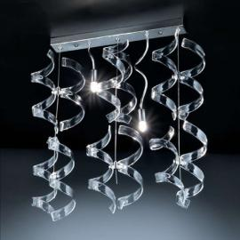Opvallende hanglamp Crystal, 2-lichts