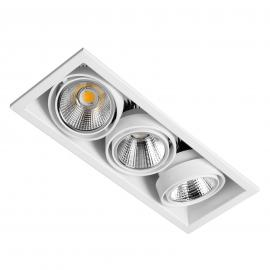 3-lp LED inbouwspot Zipar Trio Recessed 57W 3000K