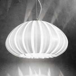 Witte acryl hanglamp Luis
