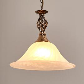 Oud-messing hanglamp CAMEROON, 1-lichts