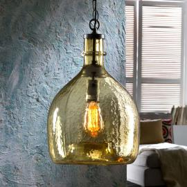 Hanglamp Laia in retro look, amber