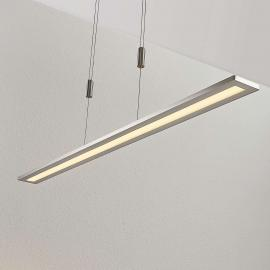 LED hanglamp Esteban in nikkel, dimbaar