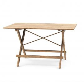 Field table - Opklapbare eettafel - Bamboe hout - L130 x B90 x H75 cm