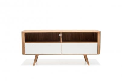 Ena TV Sideboard Three - Houten TV-meubel - Open vakken - Naturel - 135 x 60 cm