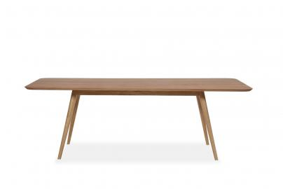 Stafa Table - Houten eettafel - Naturel - 220 x 90 cm