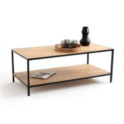 Mesa baja rectangular de roble y metal, Nova