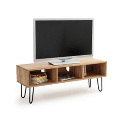 Mueble TV estilo industrial de roble, ADZA