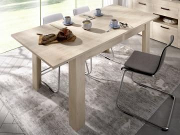 Mesa de comedor extensibles BALKIS - Color: roble