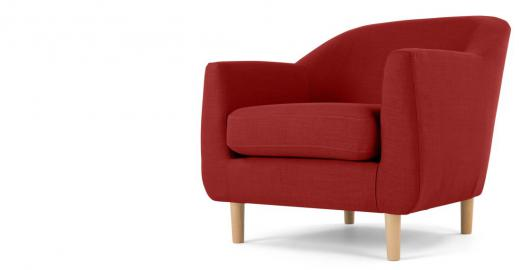 Tubby, fauteuil, rouge brillant
