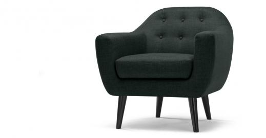 Ritchie, fauteuil, gris anthracite