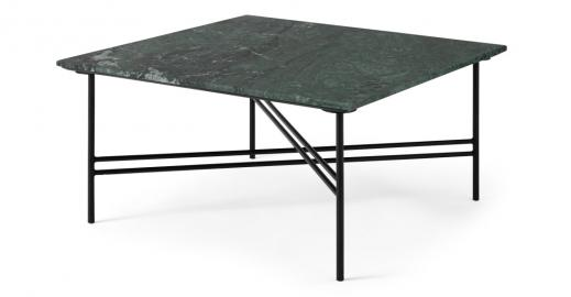 Ailish, table basse carrée, marbre vert