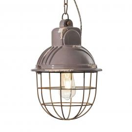 Suspension C1770 au design industriel bleu-gris