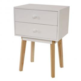 Mendler Commode Malmö T271, armoire, table d'appoint, design rétro 59x40x30cm ~ blanc