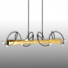 Menzel Donna - suspension LED avec feuille d'or