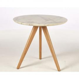BOUT DE CANAPE COPENHAGUE 2 Tables basses style contemporain décor blanc - 2 x L 50 x l 50 cm