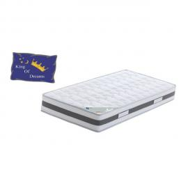 King Of Dreams King Memory Matelas 90x190 Ferme Mousse à Mémoire de Forme 50 Kg/m3 - 23 cm