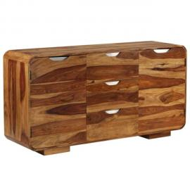 vidaXL Buffet Bois dAcacia Massif Marron Armoire Commode Table dAppoint