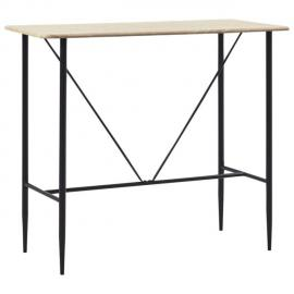 sublime Tables ensemble Madrid Table de bar Chêne 120 x 60 x 110 cm MDF