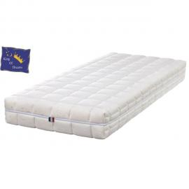 King Of Dreams Natural Latex Naturel- Matelas Dehoussable 80x190 + Oreiller à valeur 89