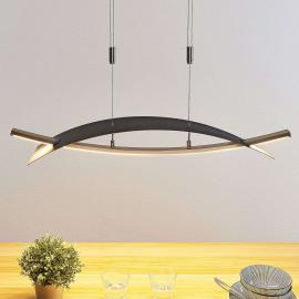 Suspension LED Marija, cache horizontal noir