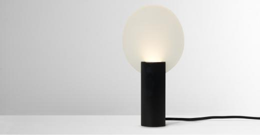 Lune, lampe de table LED, noir