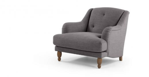 Ariana, fauteuil, gris graphite