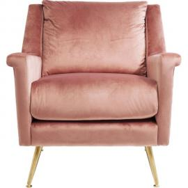 Karedesign Fauteuil San Diego velours rose Kare Design