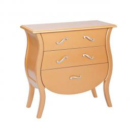 Altobuy Imperio - Commode 3 Tiroirs Or et Argent