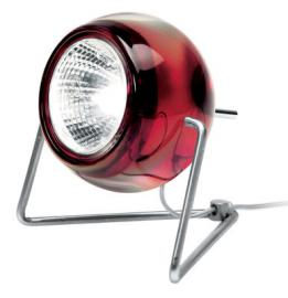 Lampe de table Beluga / version verre - Fabbian rouge transparent en métal