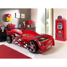 Paris Prix Pack - Lit Enfant Voiture Night Speeder & Armoire 1 Porte Pompe à Essence Rouge