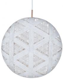Suspension Chanpen Hexagon / Ø 52 cm - Forestier blanc en tissu