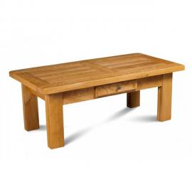 HELLIN Table basse rectangle LA BRESSE - bois chêne massif
