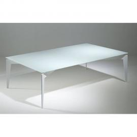 Inside 75 Table basse design Rocky en verre blanc