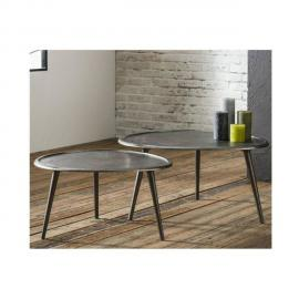 Inside 75 Lot de 2 Tables basses Sabli Gm design coule sable