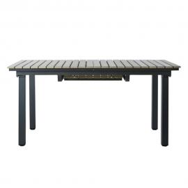 Table de jardin en aluminium gris L 213 cm Escale