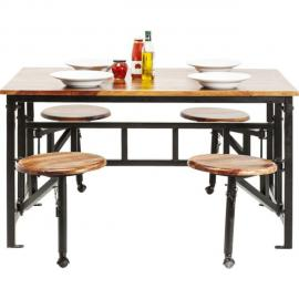 Karedesign Table avec tabourets Space Kare Design