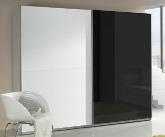 Presta white 2 - black and white modern wardrobe