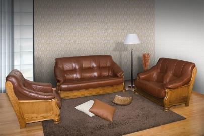 Magnat - Leather 2 seater sofa bed