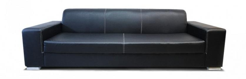 MAX 3 - Faux leather 3 seater sofa