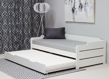 Bedmaster Copella White Guest Bed - Single (3' x 6'3)