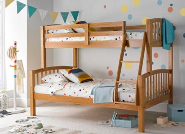 Bedmaster Mya Pine Triple Sleeper Bed - Small Double (4' x 6'3)
