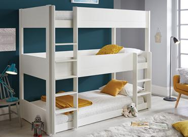 Bedmaster Snowdon Three Tier Bunk Bed - Single (3' x 6'3)