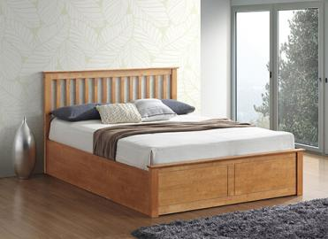 Bedmaster Malmo Oak Ottoman Bed - Double (4'6 x 6'3)
