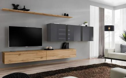 Shift 7 - contemporary entertainment center