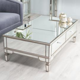 Versailles Venetian Mirrored Storage Coffee Table