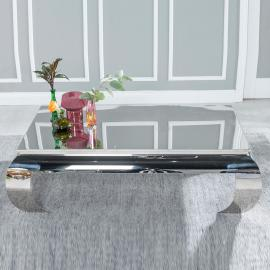 Atina Stainless Steel Chrome Coffee Table