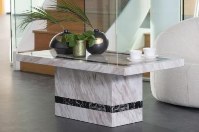 Barcelona Cream Marble Coffee Table