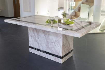 Barcelona Cream Marble Rectangular Dining Table