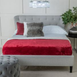 Dahlia Grey Fabric Upholstered 4ft 6in Double Bed