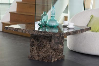 Prague Brown Marble Coffee Table